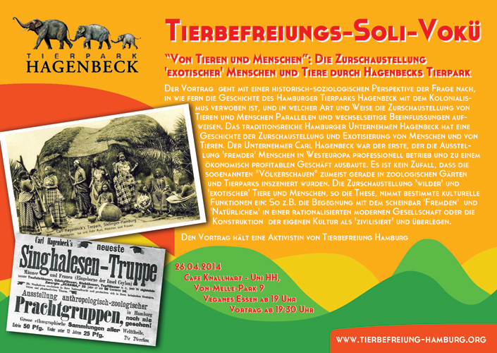 Tierbefreiungs-Soli-Vokü Flyer April 2014