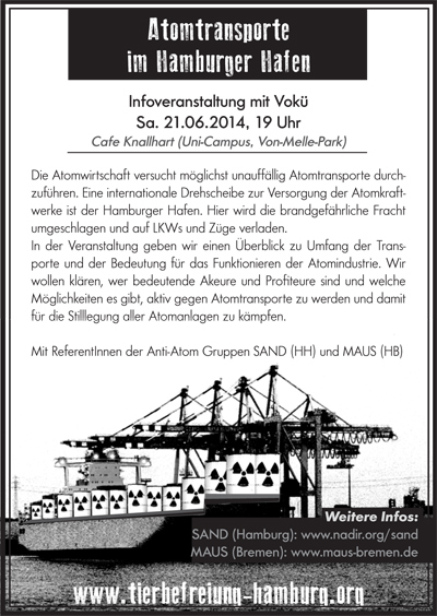 Tierbefreiungs-Soli-Vokü Flyer Juni 2014