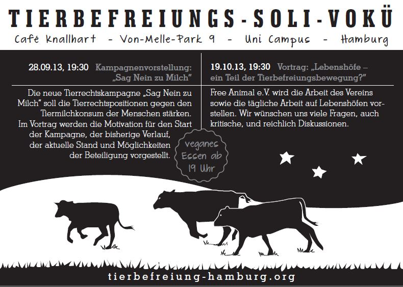 Tierbefreiungs-Soli-Vokü Flyer September 2013